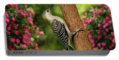 Portable Battery Charger featuring the photograph Juvenile Red Bellied Woodpecker by Darren Fisher