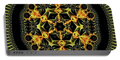 Portable Battery Charger featuring the digital art Jyoti Ahau 199 by Robert Thalmeier