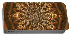Portable Battery Charger featuring the digital art Jyoti Ahau 205 by Robert Thalmeier