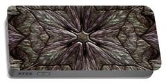 Portable Battery Charger featuring the digital art Jyoti Ahau 220 by Robert Thalmeier