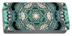 Portable Battery Charger featuring the digital art Jyoti Ahau 997 by Robert Thalmeier