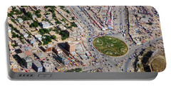 Kabul Traffic Circle Aerial Photo Portable Battery Charger