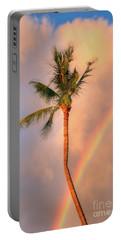 Kahekili Beach Park Rainbow Palm Portable Battery Charger