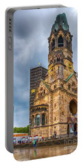 Portable Battery Charger featuring the photograph Kaiser Wilhelm Gedachtniskirche by Pravine Chester