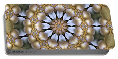Portable Battery Charger featuring the digital art Kaleidoscope 130 by Ron Bissett