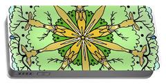 Kaleidoscope Deer Portable Battery Charger by Debra Baldwin