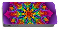 Kaleidoscope Flower 01 Portable Battery Charger