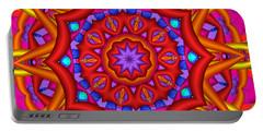 Kaleidoscope Flower 02 Portable Battery Charger