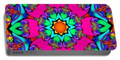 Kaleidoscope Flower 03 Portable Battery Charger
