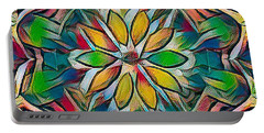 Kaleidoscope In Stained Glass Portable Battery Charger