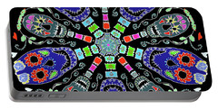 Kaleidoscope Of Skulls Portable Battery Charger