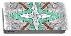Kaleidoscope Of Winter Trees Portable Battery Charger