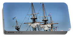 Kalmar Nyckel - Docked In Lewes Delaware Portable Battery Charger