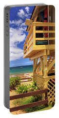 Portable Battery Charger featuring the photograph Kamaole Beach Lifeguard Tower by James Eddy