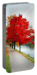 Kanawha Boulevard In Autumn Portable Battery Charger