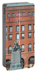 Kane County Courthouse Portable Battery Charger by David Bearden