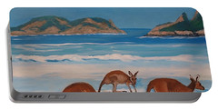 Kangaroos On The Beach Portable Battery Charger