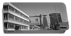 Portable Battery Charger featuring the photograph Kansas City - 18th Street Bw by Frank Romeo
