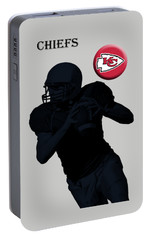 Kansas City Chiefs Football Portable Battery Charger by David Dehner