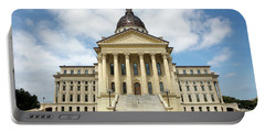 Portable Battery Charger featuring the photograph Kansas State Capitol Building by Steven Frame