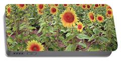 Kansas Sunflower Field Portable Battery Charger