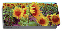 Kansas Sunflowers Portable Battery Charger