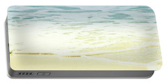 Portable Battery Charger featuring the photograph Kapalua Beach Dream Colours Sparkling Golden Sand Seafoam Maui by Sharon Mau