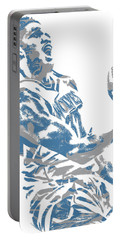 Karl Anthony Towns Minnesota Timberwolves Pixel Art 7 Portable Battery Charger