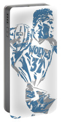 Karl Anthony Towns Minnesota Timberwolves Pixel Art 8 Portable Battery Charger
