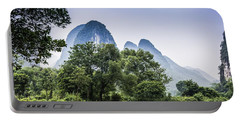 Karst Rural Scenery In Spring Portable Battery Charger