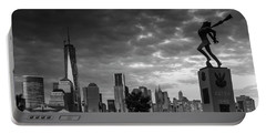 Katyn New World Trade Center In New York Portable Battery Charger