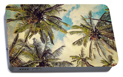 Kauai Island Palms - Blue Hawaii Photography Portable Battery Charger by Melanie Alexandra Price