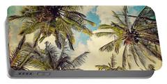 Kauai Island Palms - Blue Hawaii Photography Portable Battery Charger