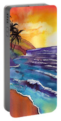 Kauai Na Pali Sunset Portable Battery Charger by Marionette Taboniar