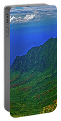 Kauai  Napali Coast State Wilderness Park Portable Battery Charger by Tom Jelen
