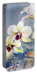 Portable Battery Charger featuring the painting Kauai Orchid Festival by Marionette Taboniar