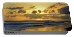 Kauai Sunset With Niihau On The Horizon Portable Battery Charger