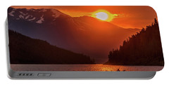 Kayak In The Sunset Glow Portable Battery Charger