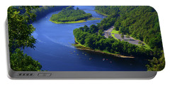 Portable Battery Charger featuring the photograph Kayaking The Delaware River by Raymond Salani III