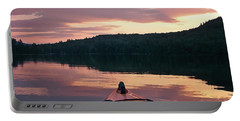 Kayaking Under A Gorgeous Sundown Sky On Concord Pond Portable Battery Charger