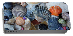 Portable Battery Charger featuring the photograph Kayla's Shells by John Schneider