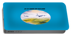 Kc-130 Tanker Aircraft And Pave Hawk With Banner Portable Battery Charger by Bill Holkham