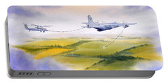Kc-130 Tanker Aircraft Refueling Pave Hawk Portable Battery Charger by Bill Holkham