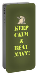 Portable Battery Charger featuring the photograph Keep Calm And Beat Navy by Dan McManus