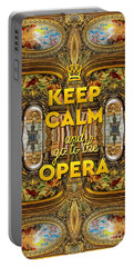 Keep Calm And Go To The Opera Garnier Grand Foyer Paris Portable Battery Charger