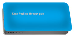 Portable Battery Charger featuring the digital art Keep Pushing by Aaron Martens