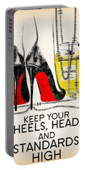 Keep Your Heels Head And Standards High Portable Battery Charger