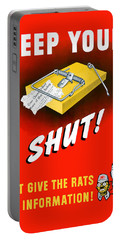 Keep Your Trap Shut -- Ww2 Propaganda Portable Battery Charger