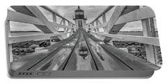 Portable Battery Charger featuring the photograph Keeper's Walkway At Marshall Point by Rick Berk