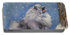 Keeshond In Wnter Portable Battery Charger